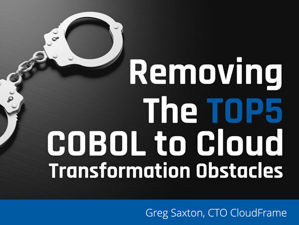 Removing COBOL to Cloud Obstacles Webinar Recording Available on YouTube